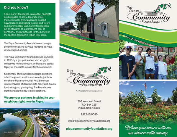 The Piqua Community Foundation Newsletter